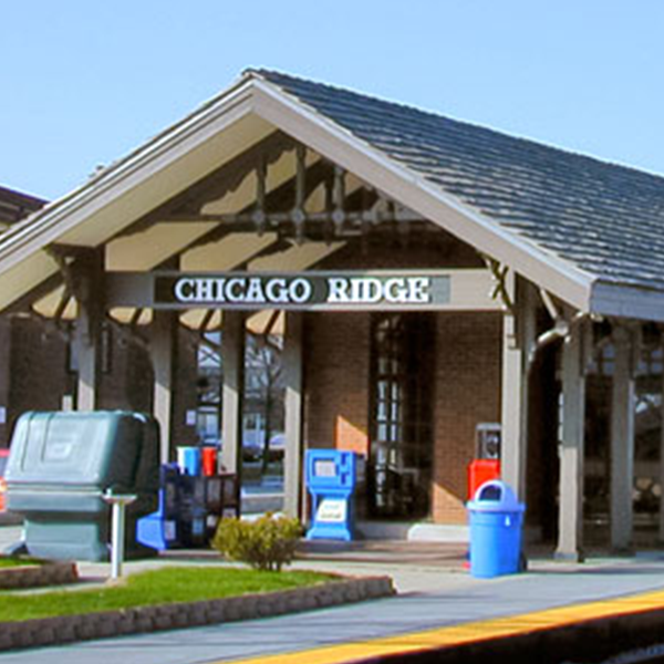 Chicago Ridge Train Station - Photo Credit: Chicago Ridge, IL Official Website