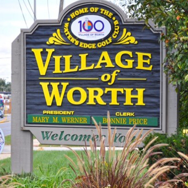 Village Sign - Photo Credit: Village of Worth Official Website